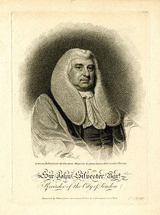 Common Serjeant of London - Image: Sir John Silvester