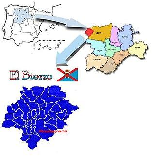Fabero - Image: Situación de El Bierzo