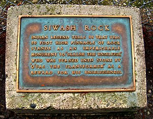 Siwash Rock - Plaque marking Siwash Rock.