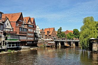 Lüneburg - View from the Brausebrücke bridge