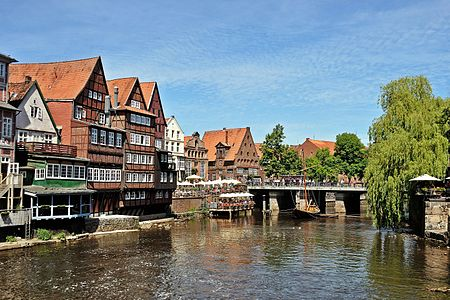 Picture taken in Lüneburg showing the old harbour.