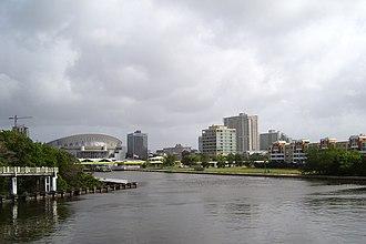 Hato Rey Norte - Hato Rey Norte skyline, with Martín Peña Canal and José Miguel Agrelot Coliseum