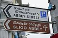 Sligo, road sign Abbey street.jpg
