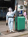 Soap star scarecrow outside the garage, Kettlewell - geograph.org.uk - 453689.jpg
