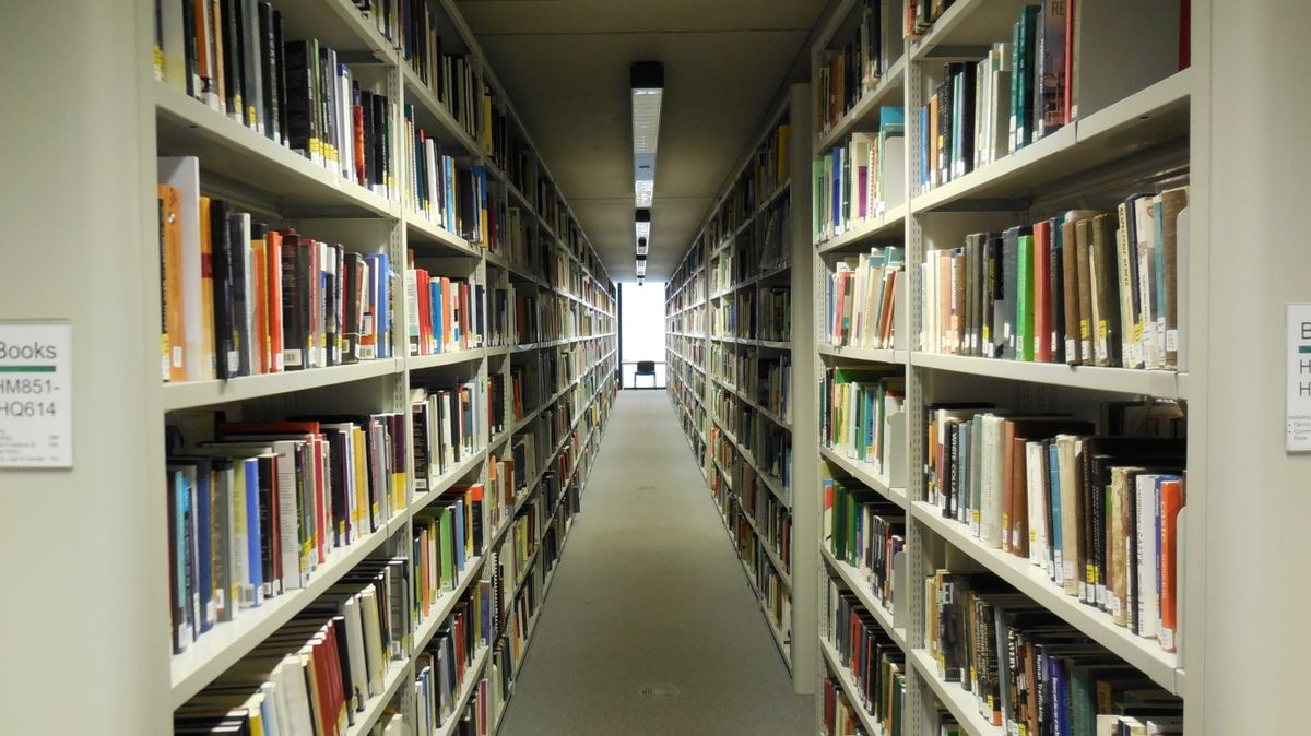 collection of books in the science library