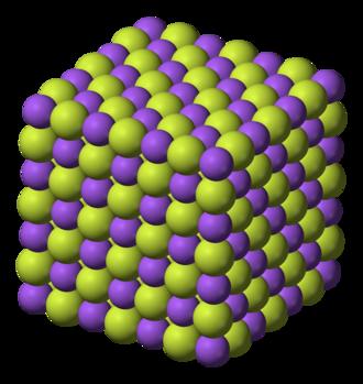 Sodium fluoride - Image: Sodium fluoride 3D ionic