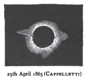 Solar eclipse of April 25, 1865 - Image: Solar eclipse 1865Apr 25 Cappeletti