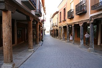 Medina de Rioseco - Typical street in Medina de Rioseco.