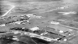 Souilly Aerodrome - Oblique photo of Souilly Aerodrome, France, 1918