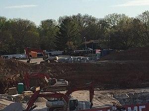Memorial Stadium (Indiana) - South Endzone Construction - April 13, 2017