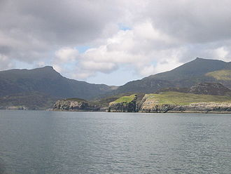 Outer Hebrides - Nicolson's Leap on the east coast of South Uist. In the background are Beinn Mhòr at left, and Hecla on the right.