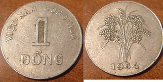 South Vietnamese đồng - A South Vietnamese 1 đồng Coin from 1964