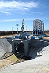 Soyuz-2.1a launch vehicle carrying spacecraft Mikhail Lomonosov at the launch pad at Vostochny Launch Centre 2.jpg