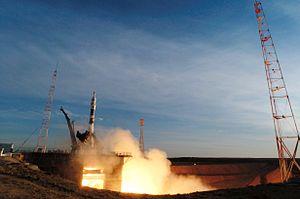 Soyuz TMA-8 - The Soyuz TMA-8 launch on 30 March 2006.