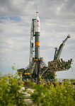Soyuz TMA-04M rocket on the launch pad.jpg