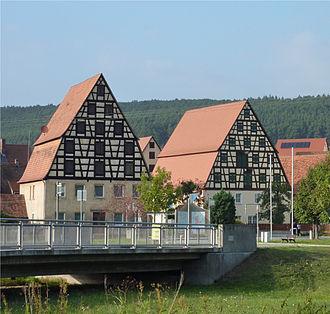 Spalt - Image: Spalt Fachwerkhäuser 2