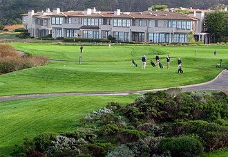 Golf course - Tee for the first hole at The Links at Spanish Bay