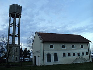 Danica concentration camp - The memorial museum and guard tower of Danica Memorial Area