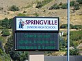 Springville Jr. High School sign, Sep 16.jpg
