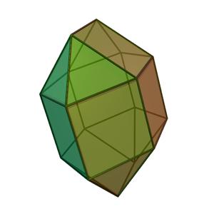 Square orthobicupola - Image: Square orthobicupola