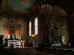 St. Bartholomew Church-inside,Mogila,Krakow Poland.JPG
