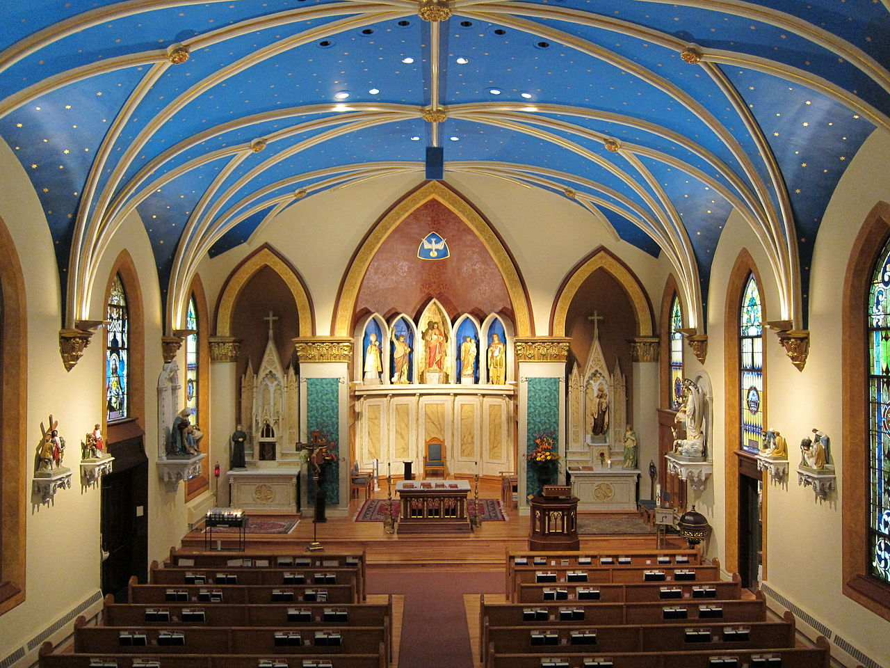 File:St. John the Baptist, Columbus, OH, view from organ ...