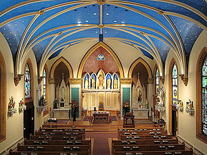 Italian Village - The nave of St. John the Baptist Italian Catholic Church.