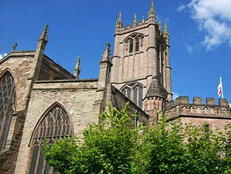 Ludlow - The Church of St Laurence has Norman origins and expanded throughout the Middle Ages, being a wool church, becoming the largest parish church in Shropshire.