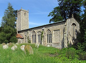 Alderford - Image: St John the Baptist, Alderford, Norfolk geograph.org.uk 477766