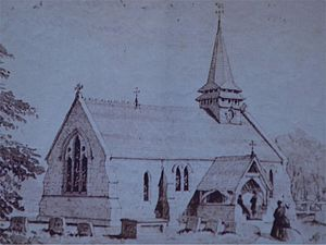 St Lawrence's Church, Weston Patrick - Image: St Lawrence, Weston Patrick 1868