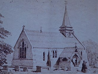 St Lawrence's Church, Weston Patrick - Image: St Lawrence, Weston Patrick 1868