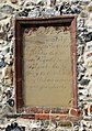 St Mary's church - C18 monument on exterior wall - geograph.org.uk - 1507389.jpg