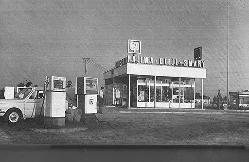 Stacja CPN w Modlinie lata 70s