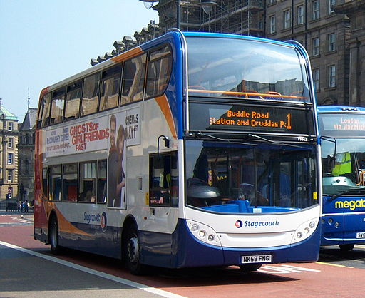 Stagecoach in Newcastle bus 19442 Alexander Dennis Trident 2 Enviro 400 NK58 FNG in Newcastle 25 April 2009