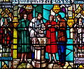 Stained glass window depicting Episcopal baptism.JPG