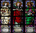 Stained glass window of Saints Maria Cervelló, Eulália and Elizabeth of Portugal - Santa Maria del Mar - Barcelona 2014 (crop).jpg