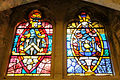 Stained glass windows in Crypt, Guildhall, City of London (6).jpg