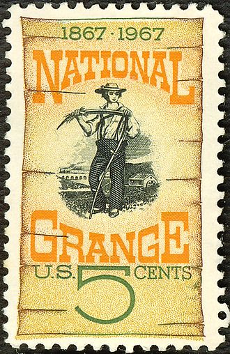 National Grange of the Order of Patrons of Husbandry - 1967 U.S. postage stamp honoring the National Grange