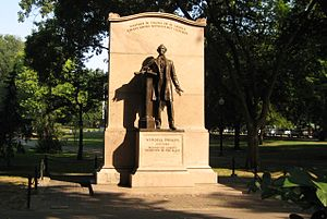 Wendell Phillips - Wendell Phillips Memorial at Boston Public Garden.