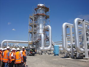 English: Steam-Water separator at 100MW Mighty...