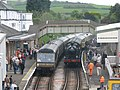 Steam trains pass in Churston Station - geograph.org.uk - 1295599.jpg