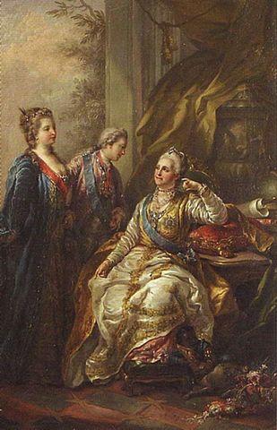 Цесаревич Павел представляет матери свою будущую супругу.