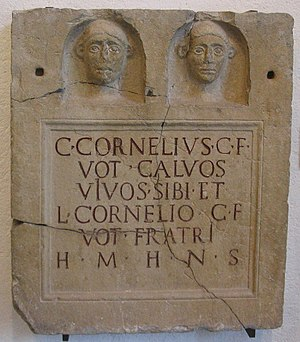Cornelia (gens) - Monument of Gaius Cornelius Calvus, and his brother, Lucius.