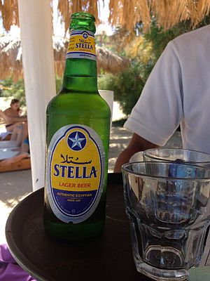 Beer in Egypt - Stella, a lager brewed by Al Ahram Beverages Company