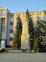 Stephen the Great monument in Nisporeni