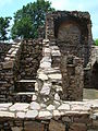 Steps of the roof-less shop of Bhangarh.JPG