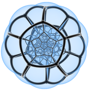 Stereographic polytope 120cell faces