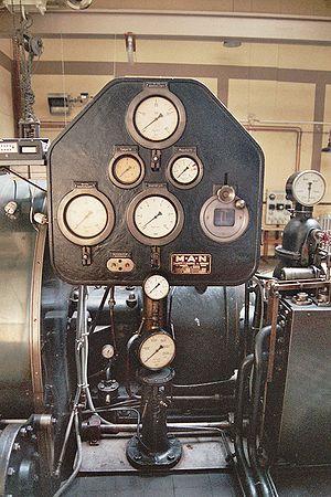 Instrumentation - A local instrumentation panel on a steam turbine.