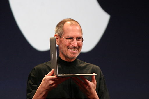 Steve Jobs with MacBook Air 2