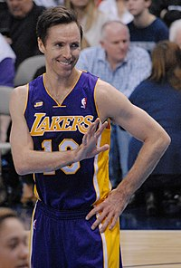 Steve Nash Steve Nash Lakers smiling 2013 (cropped 2).jpg
